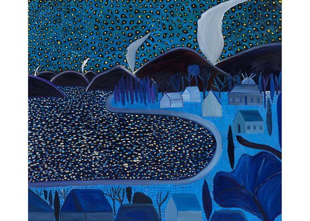 """Matthew Wong, """"Starry Night,"""" 2019"""