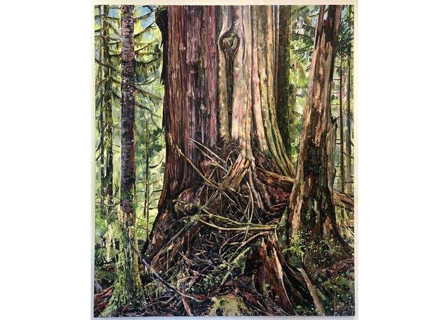 """Jeremy Herndl, """"Grandmother Tree (Solstice). River Camp 2021,"""" 2021"""