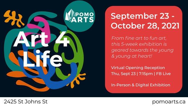 "PoMo Arts, ""Art 4 Life,"" 2021"