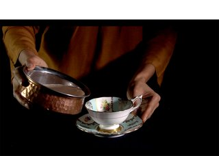 """Farheen HaQ, """"Drinking from my mother's saucer,"""" 2015"""