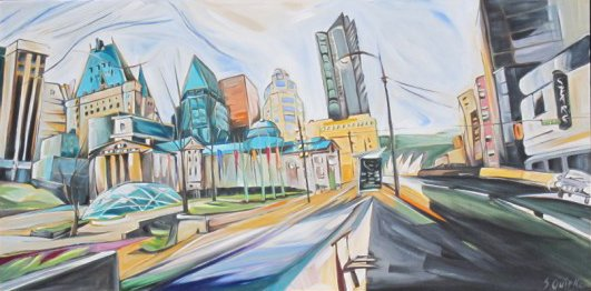 """Sharon Quirke """"Copper Rooftops (Robson Square)"""""""