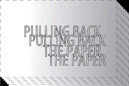 """The New Gallery, """"Pulling Back the Paper,"""" 2021"""