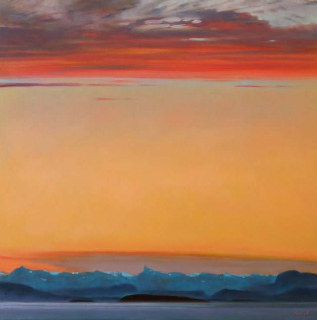 """Brent Lynch, """"'Veil' Looking east to Desolation Sound,"""" 2021"""