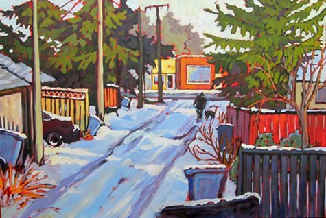 "Lyse Deselliers ""Snow Melt by 4th Street"