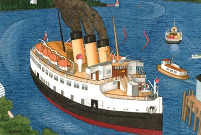 """""""Steamer Arriving at Nanaimo"""""""