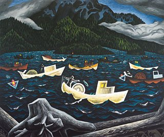 """Fishboats, Rivers Inlet"""