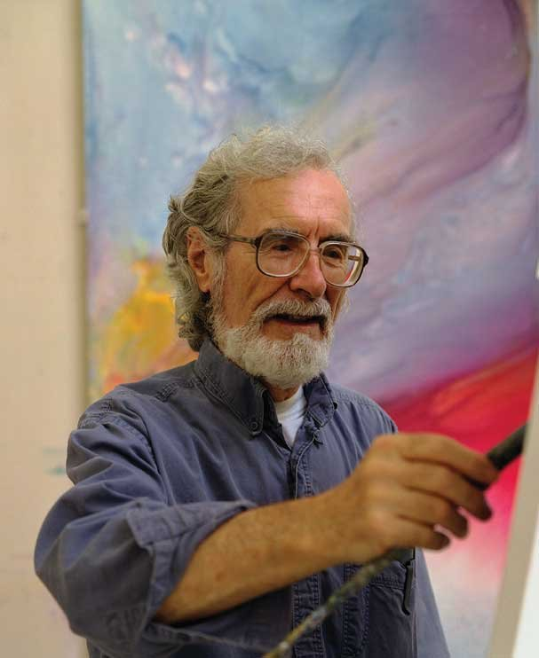 """""""Norman Yates working at the easel in his studio"""""""