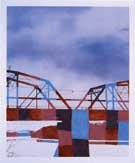 """Static Image Painting / 2nd Variation / Blue / Finley Bridge"""