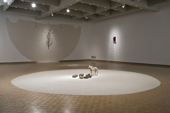 "Edward Poitras, installation view, ""Ground and Tree"","