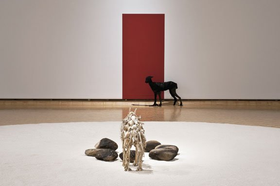 "Edward Poitras, installation view, ""Ground"""