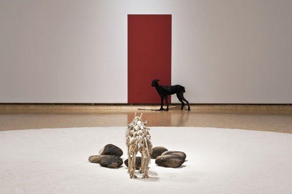 "Edward Poitras, installation view, ""Ground"""