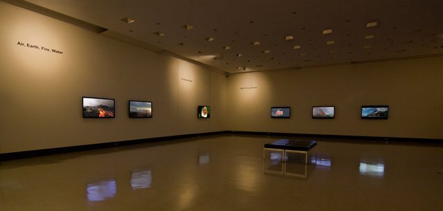 """Kent Tate, Art Gallery of Swift Current"" South wall and West Wall"