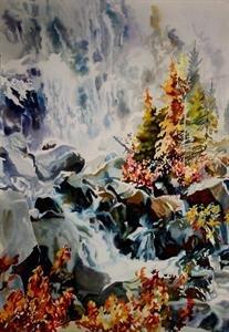 "JERRY HEINE ""Landscape with Falls"""