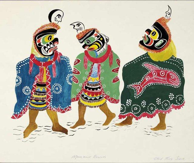 """Moon Mask Dancers,"""