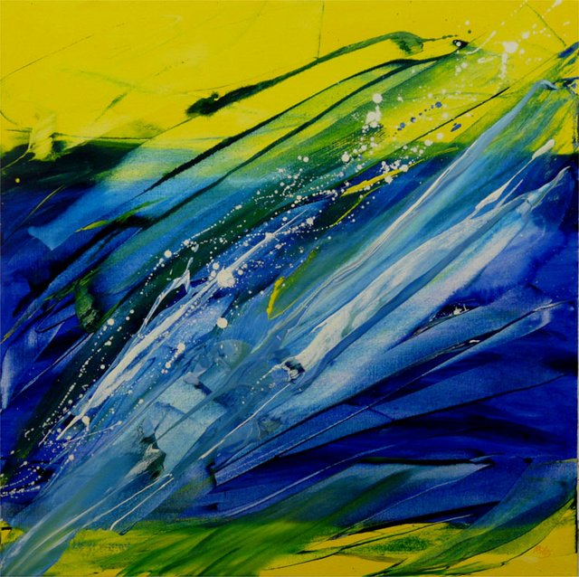 "Miles Constable ""Blue and Yellow Spring No 3"""