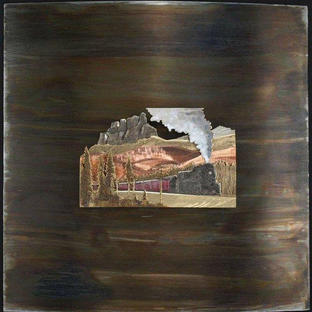 """Simon Wroot """"CPR Train Below Castle Mountain"""""""