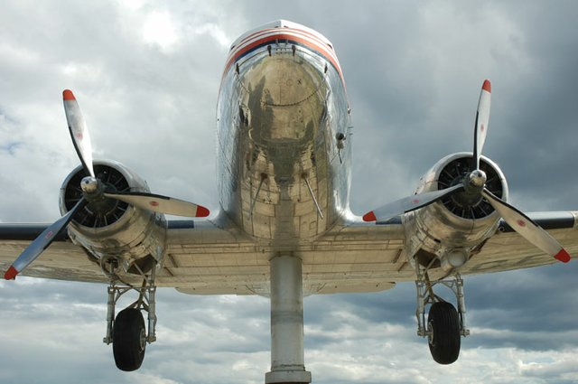 """""""Before shot of the DC-3 yarn bomb in Whitehorse."""""""