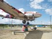 """""""After shot of the DC-3 yarn bomb in Whitehorse."""""""