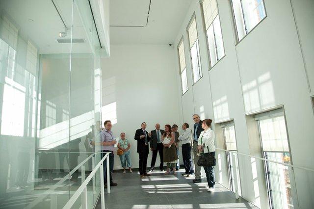 """Inside the newly restored Art Gallery of Grande Prairie."""