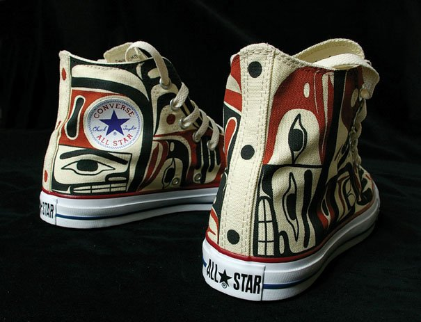"""""""Untitled, Hand-painted Canvas Converse All-Star Sneakers"""""""