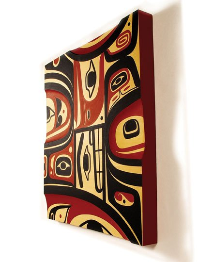 """As Years Go By,  Yellow Cedar Panel"""