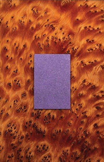 """""""Purple Rectangle on Thuya Burl"""""""