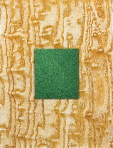 """Green Paint on Tamo Burl"""