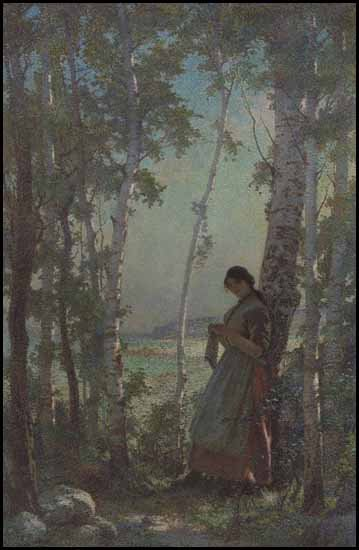 """Young Girl in Landscape"""