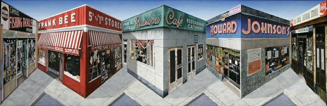"Patrick Hughes ""Corner Stores, 2011"""