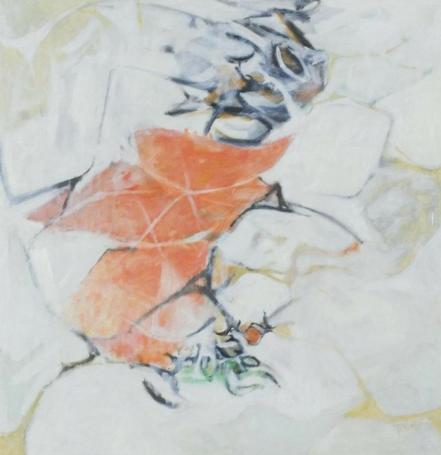 Takao Tanabe 'Landscape of an Interior Place (Orange Flower)' 1957