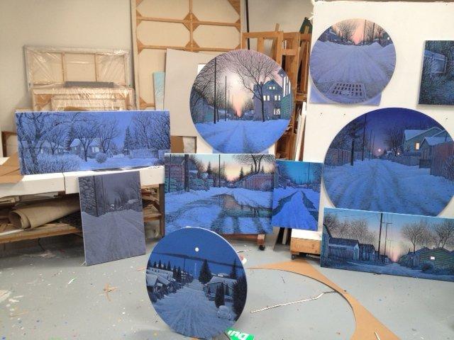 """""""Wilf Perreault's studio."""""""