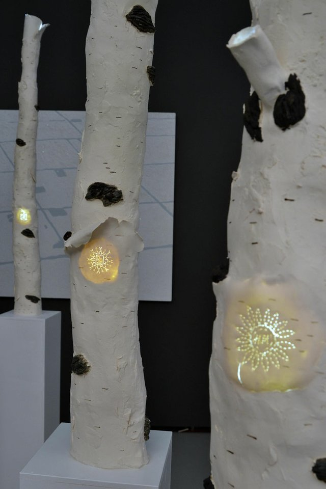 "KC Adams, ""Birch Bark Ltd""., 2012, (detail 2)"