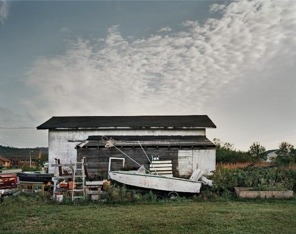 """Boat and Shed, Heron Bay, Ontario"""