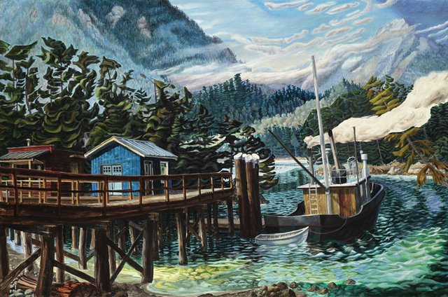 "Drew Burnham, ""Dinner on Sechelt Inlet"", 2012"