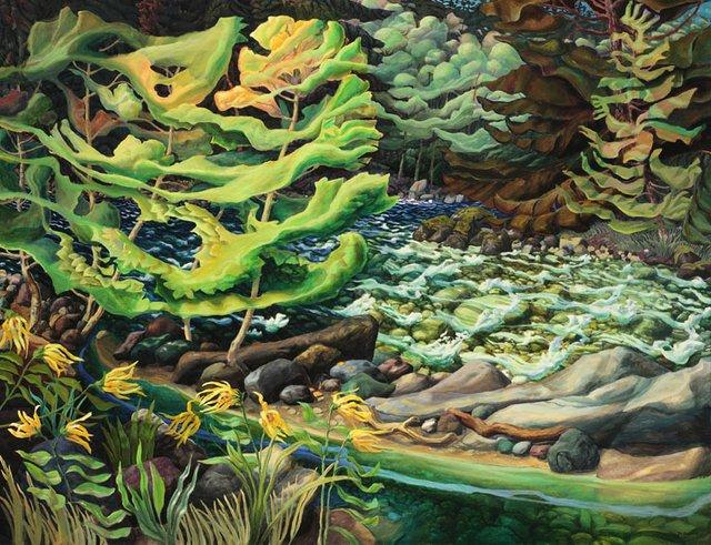 "Drew Burnham, ""Spring Thaw, Nicolum River"", 2012"