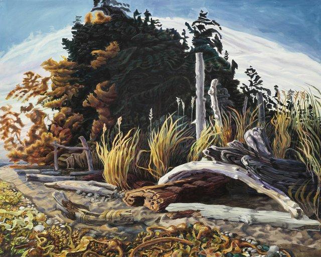 "Drew Burnham, ""Sundown Side, Kayak Camp"", 2012"