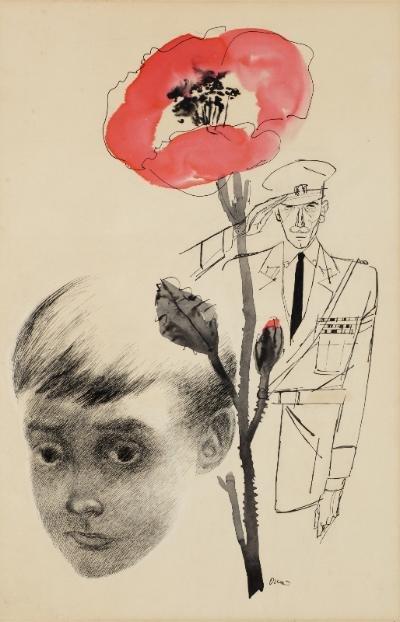 """Oscar Cahén  """"A Hero Comes Home"""", 1952"""