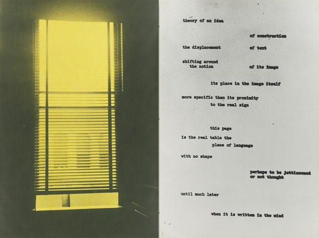"Ian Wallace, ""Image/Text"", 1979 (detail)"