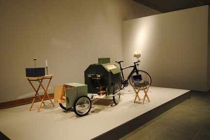 "Richard Prince, ""The Storyteller's Cart (and the Cart of the Necessities) with Bicycle"" (detail), 2008-12"
