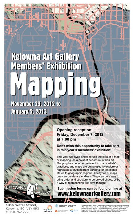 Mapping: Kelowna Art Gallery Members' Exhibition
