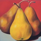 """A Trio of Yellow Pears"""