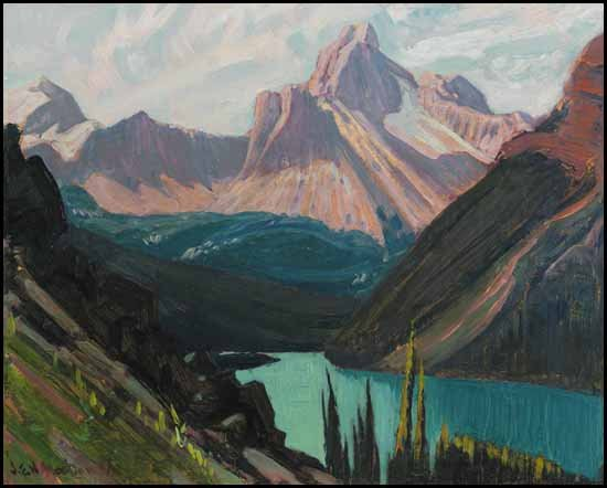 """Study for Lake O'Hara and Cathedral Mountain, Rockies"""