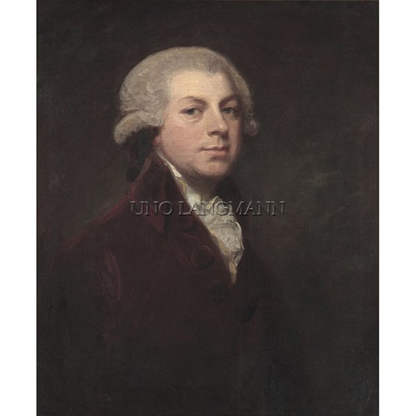 "ROMNEY, GEORGE (British 1734-1802) ""PORTRAIT OF MR. WRIGHT"""
