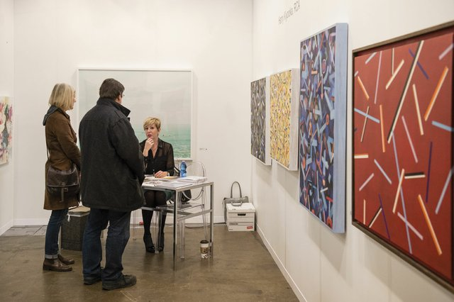 """Deborah Herringer Kiss, a first time exhibitor at Art Toronto"""
