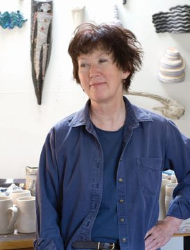 """Barbara Tipton in her studio"""