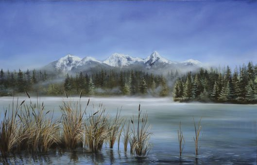 """The Quiet of a Mountain Lake"""