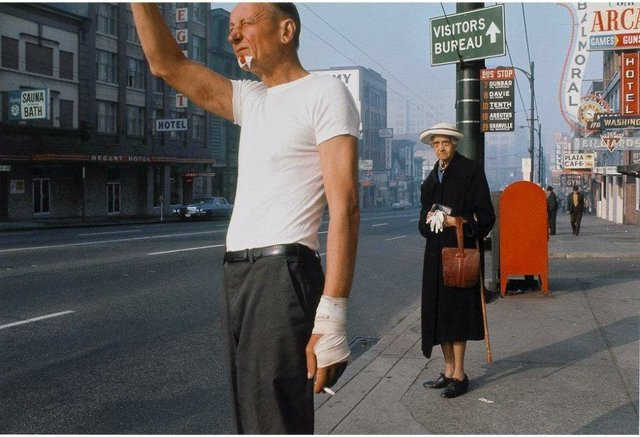 Fred Herzog, Man with Bandage, 1968