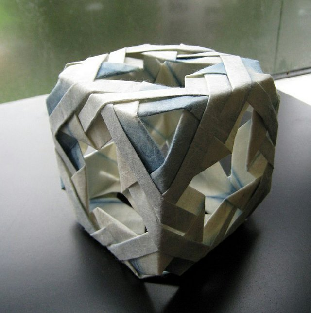 """""""Indigo-dyed origami model"""""""