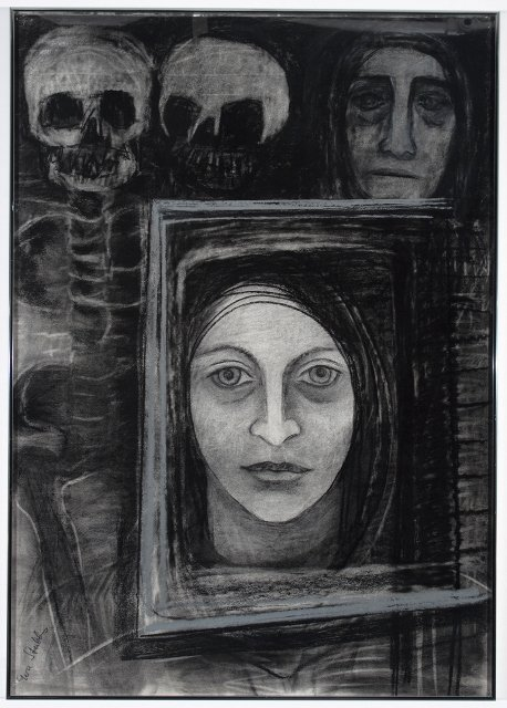 """Self-Portrait with Skulls"""
