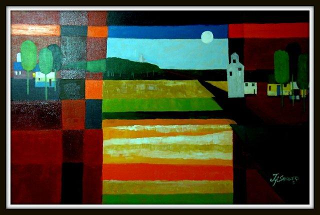 """John Smeulders, acrylic painting"""